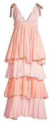 Pitusa Women's Alma Empire-Waist Tiered Dress