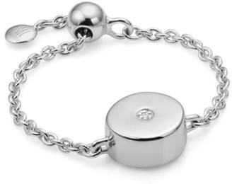 Monica Vinader Linear Solo Diamond Friendship Chain Ring