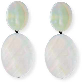Viktoria Hayman Double-Drop Mother-of-Pearl Earrings