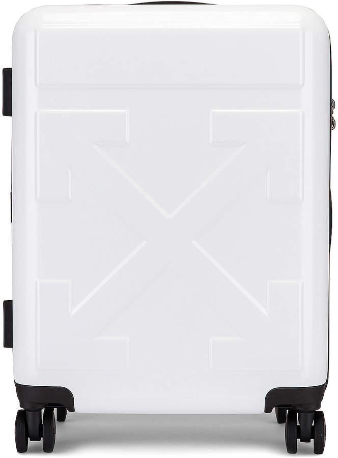 Off-White Off White Arrow Trolley Luggage in White | FWRD