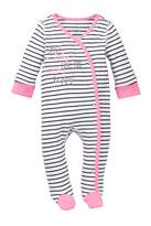 Boppy Happy Girl Striped Sleep & Play Footie (Baby Girls)