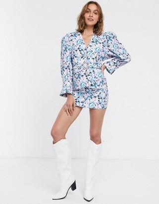 ASOS DESIGN floral print suit skirt