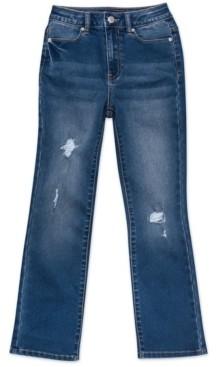 Calvin Klein Big Girls High Rise Flare Jeans