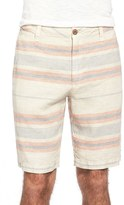 Tailor Vintage Stripe Linen Walking Shorts
