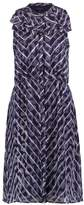 Banana Republic RUFFLE NECK TARA ANIMAL Dress blue combo