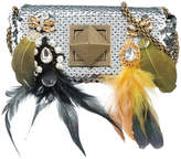 Sonia Rykiel sequin feather detail mini bag