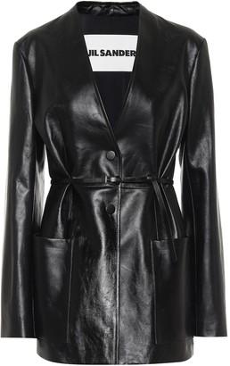 Jil Sander Belted leather blazer