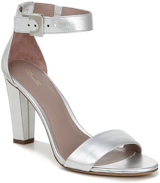 Diane von Furstenberg Metallic Chainlink Leather Sandal