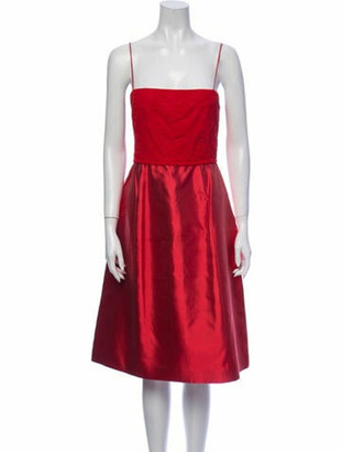Narciso Rodriguez Silk Knee-Length Dress w/ Tags Red