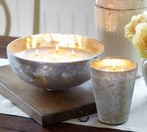 Pottery Barn Rough Cast Glass Scented Candle Pot