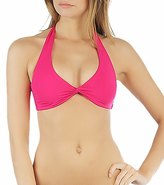 L-Space LSpace Swimwear Sensual Solids Bella Twist Halter Bikini Top - 40270