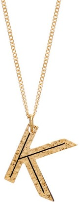Burberry Hammered K-charm Gold-plated Necklace - Womens - Gold