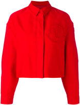 Moncler Gamme Rouge cropped boxy jacket - women - Silk/Cotton - 1