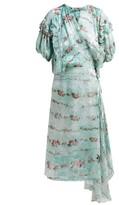 Preen by Thornton Bregazzi Ashley Floral-print Silk-devore Wrap Dress - Womens - Light Blue
