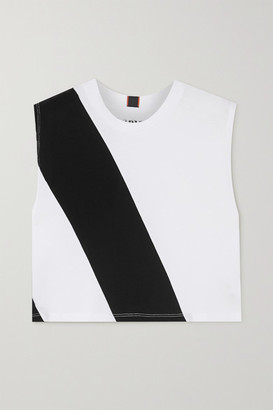 AARMY - Lima Printed Cotton-jersey Tank - White