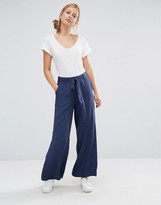 Warehouse Tie Waist Wide Leg Pant
