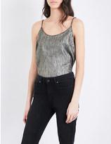 ROSIE HW X PAIGE Cicely metallic silk camisole