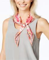 Echo Seaside Floral Silk Diamond Scarf