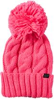 Fox Neon Pink Valence Pom Pom Beanie