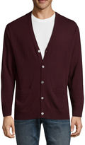Claiborne V Neck Long Sleeve Cardigan