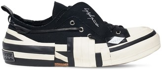 Yohji Yamamoto Xvessel Layered Canvas Low-Top Sneakers