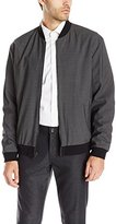 Vince Men's Worsted Wool Reversible Bomber Jacket