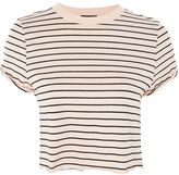 Topshop Stripe Cropped T-Shirt