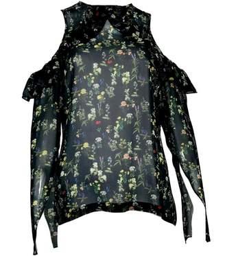 Preen Black Silk Top for Women