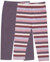 Jo-Jo JoJo Maman Bebe 2 Pack Leggings (Toddler/Kid) - Mulbery-4-5 Years