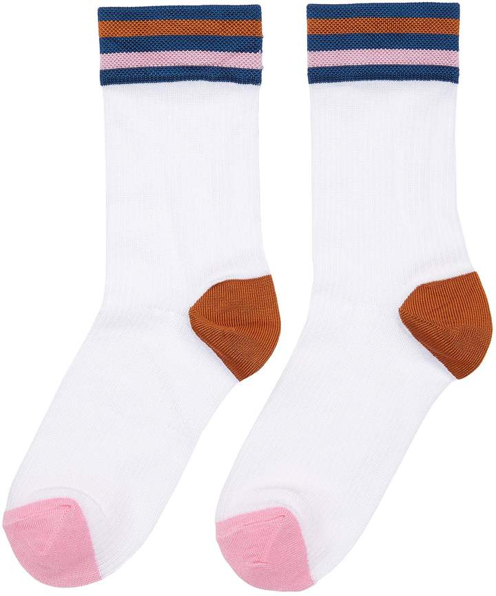 Hysteria By Happy Socks 'Lona' stripe contrast socks