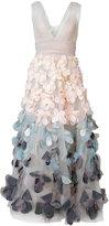 Marchesa floral applique dress - women - Nylon - 14