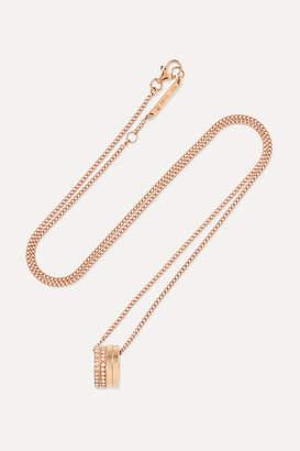 Repossi Antifer 18-karat Rose Gold Diamond Necklace