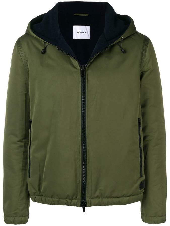 Dondup zipped hooded jacket