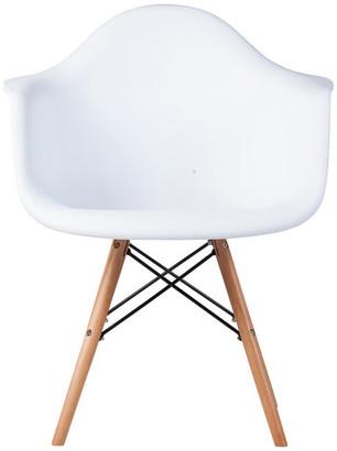 Mid-Century MODERN Midcentury Modern DAW Arm Chair, White