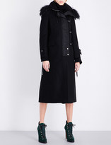 Sacai Melton faux-shearling wool coat