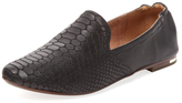 Yosi Samra Preslie Embossed Leather Loafer