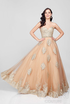 Terani Prom - Luxurious Strapless Sweetheart A-line Gown with Emblellished Waist 1712P2890