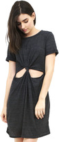 West Coast Wardrobe Peek-a-Boo T-Shirt Dress in Onyx