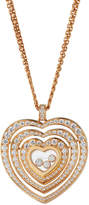Chopard Cuore 18k Rose Gold Diamond Pendant Necklace