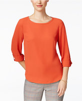 Nine West Roll-Tab Blouse