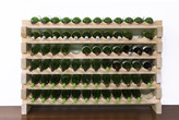 6 Layers of 12 Bottles Wine Rack Finish: Natural