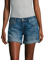 True Religion Emma Mid Rise Shorts with Flap Pockets