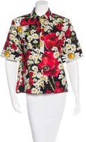 Dolce & Gabbana Floral Print Short Sleeve Top