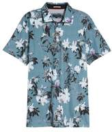 Ted Baker Scruff Trim Fit Floral Print Polo