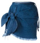 Marques Almeida Marques'almeida - knot detail denim skirt - women - Cotton - 6