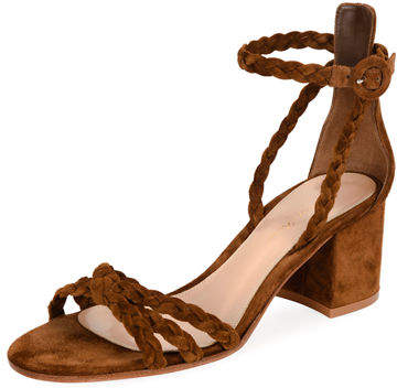 Gianvito Rossi Braided Suede 60mm Sandal