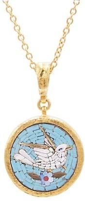 Gurhan Antiquities 18K, 22K & 24K Yellow Mosaic Bird Pendant Necklace