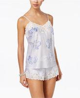 Lauren Ralph Lauren Lace-Trimmed Satin Cami and Shorts Pajama Set