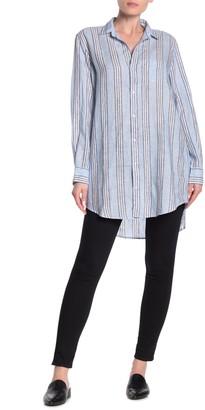 Frank And Eileen Eileen Stripe Print Linen Shirt