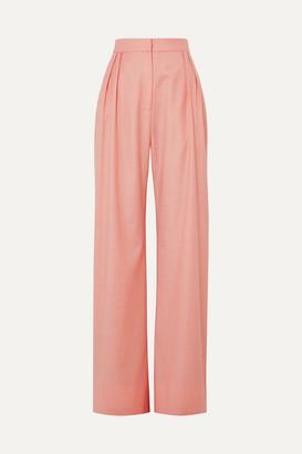 MATÉRIEL Wool-blend Wide-leg Pants - Blush
